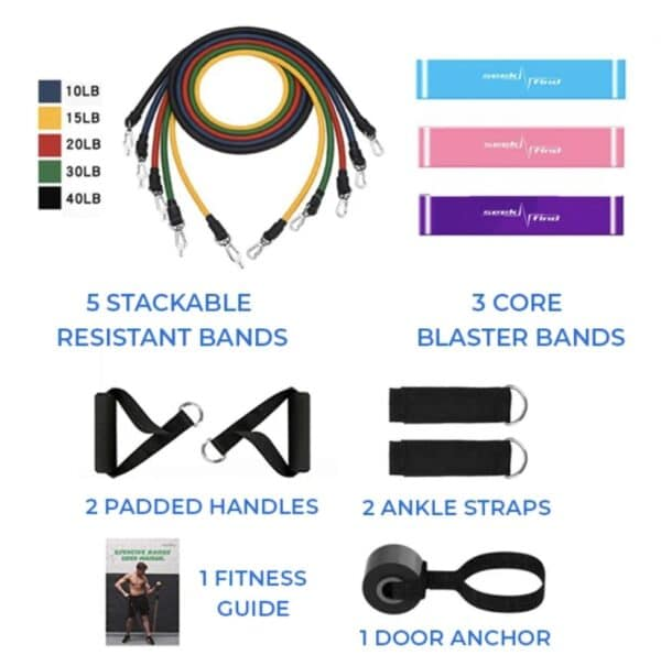 Resibands™ 11pc Resistance Bands Set – Official Retailer