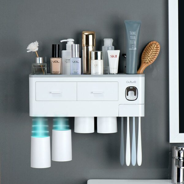 Oswei™ Official Retailer – Nordic Inspired Multi Functional Toothbrush Holder