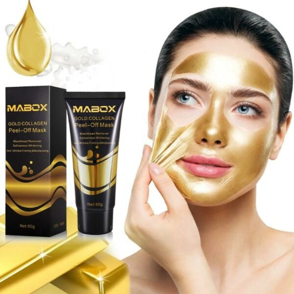 Mabox Pure 24k Gold Collagen Peel Off Facial Mask