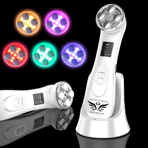 Angel's Touch Aesthetics™️ Official Retailer – 5 In 1 Radio Frequency/ems/led Skin Rejuvenation Device